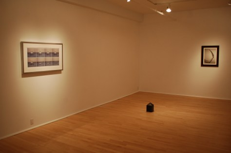 Installation view of Jana Sterbak's Back Home at Laroche/Joncas