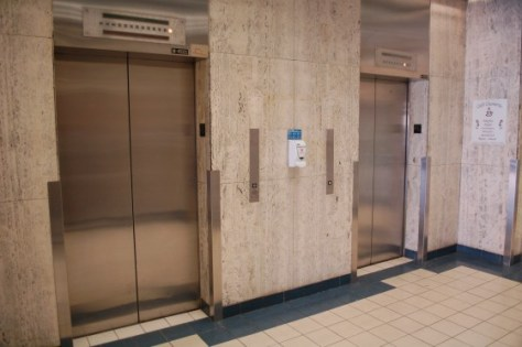 The elevators at 1001 de Mainsonneuve E