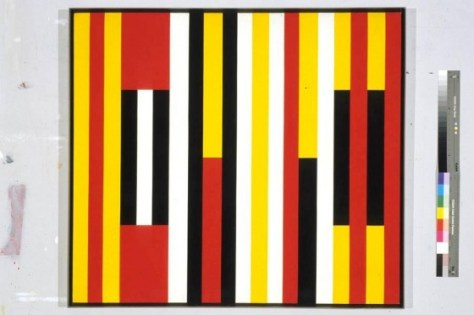 """Equilibre, Acrylic on Canvas, 39"""" x 44"""", 1960"""