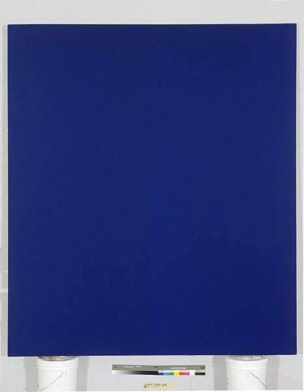 Quantificateur bleu 12, Acrylic on Canvas, 8' x 7', 1994