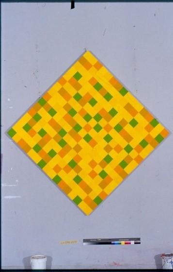 Sans titre, Acrylic on Canvas, 200 x 200 cm, 1998/2002