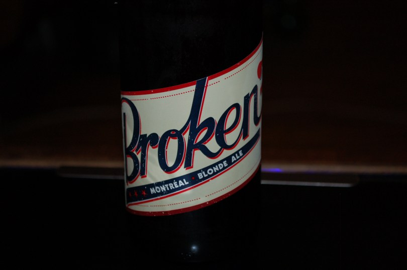 The label for Broken 7 by La Compagnie de Bière Brisset