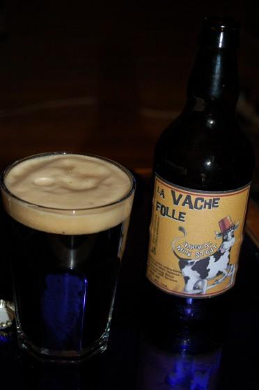 La Vache Folle Imperial Milk Stout (in the glass)