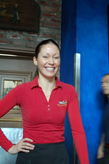 One last photo of Yana our server at Eggspectations