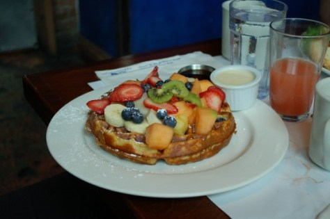 Belgian Waffles Pagé at Eggspectations