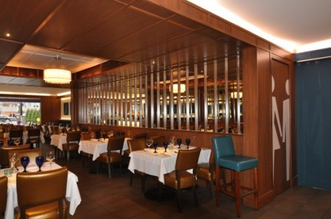 Interior view of Blu restaurant italien