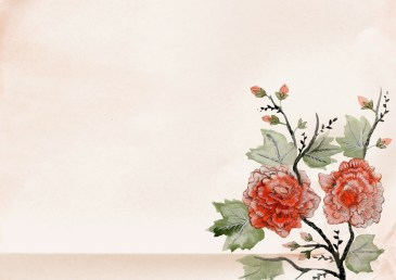 Chinese Watercolor Flower