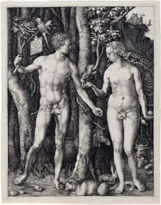Albrecht Durer Adam and Eve Engraving
