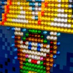 Illuminate the room with this Lego Triforce mosaic
