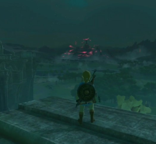 Breath of the Wild: Dark Castle at night