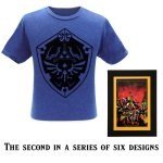 Second exclusive shirt and art cell designs available at Nintendo NY