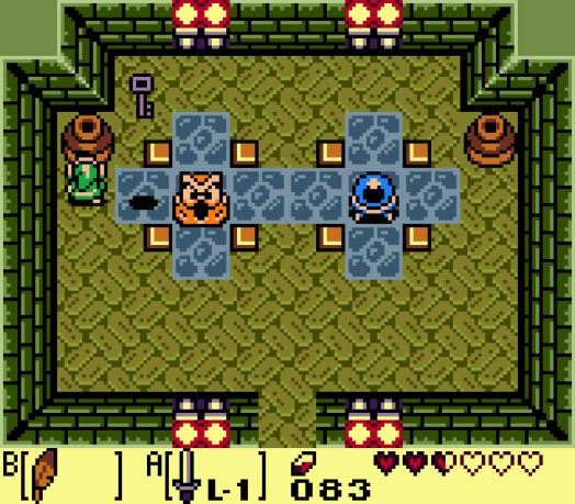 You'll need the key in this room to proceed, but more important is the lone Crystal Switch of the dungeon.