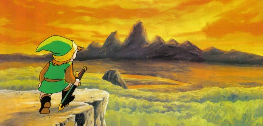 link on a cliff