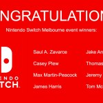 Updated: Announcing the winners of Melbourne Nintendo Switch event passes