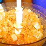 Тушені овочі для кабачкової ікри збиваємо блендером