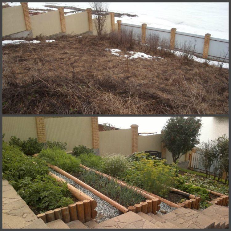 Ландшафтний дизайн подвір'я - до і після, фото 2
