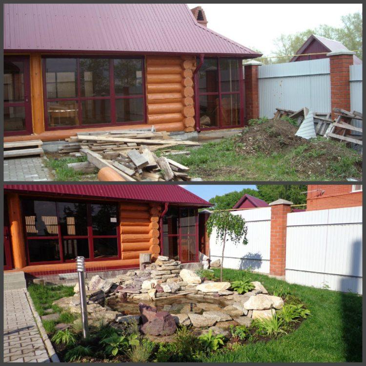 Ландшафтний дизайн подвір'я - до і після, фото 5