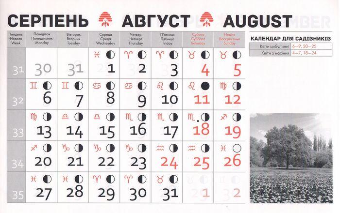 Посівний календар на серпень 2018 року фото