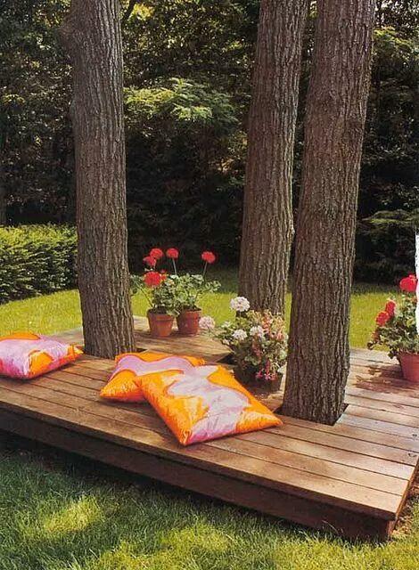 місце відпочинку біля дерева фото