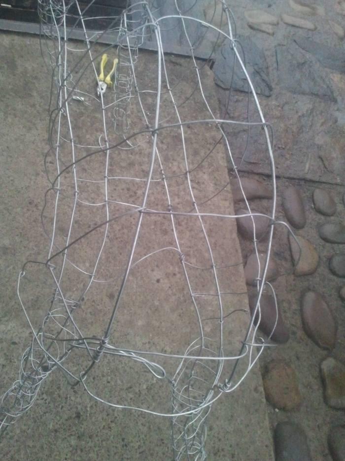 новорічний олень з дроту заготовка фото 4