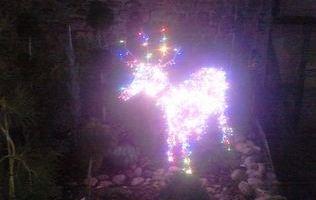 новорічний олень з дроту фото