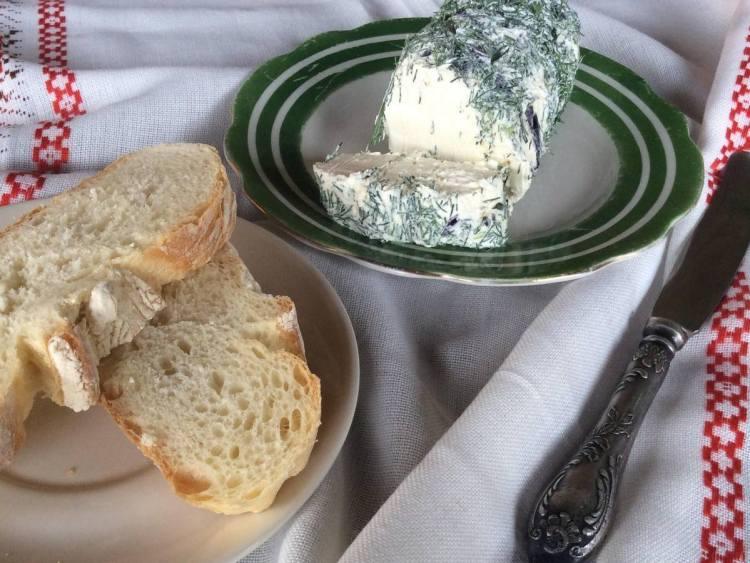 Домашній сир з кефіру і сметани