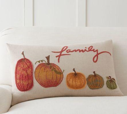 Подушка з гарбузами