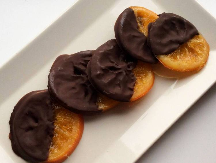 Апельсини в шоколаді готові!
