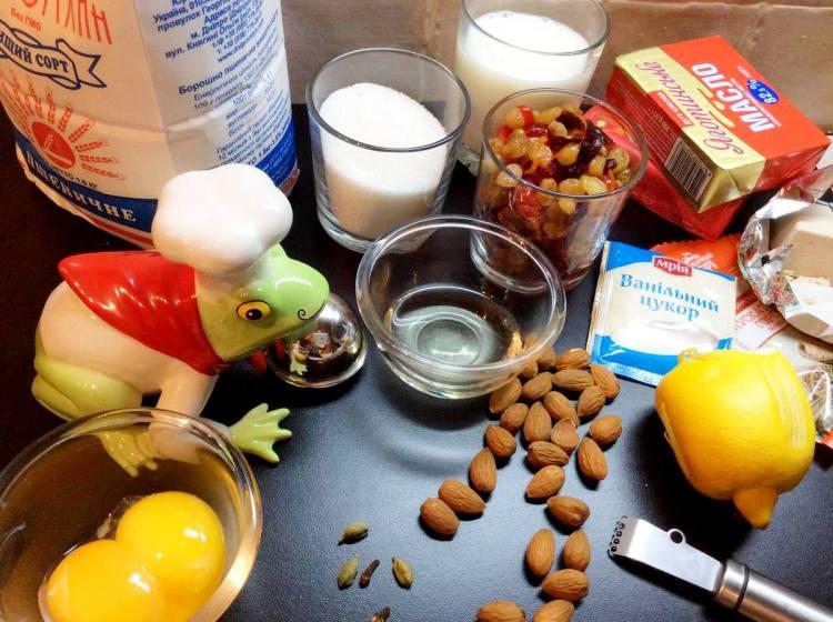 Інгредієнти для приготування штоллену