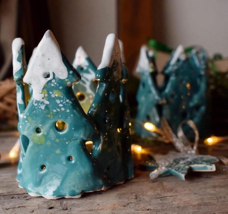 Керамічні свічники-ялинки FIRAWORKSHOP