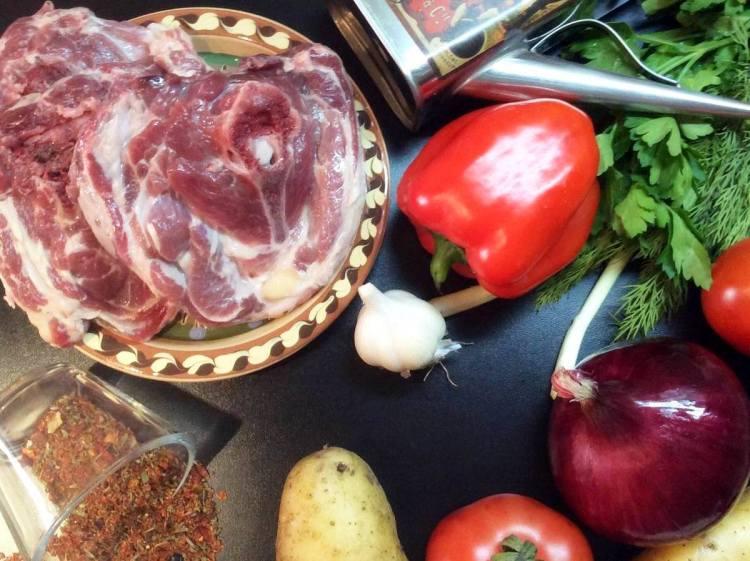 Продукти для шурпи по-узбецьки