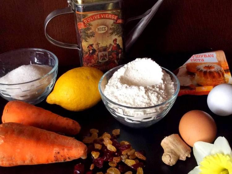 Інгредієнти для морквяного кекса