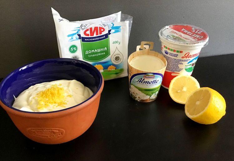 Інгредієнти для тарта з персиками
