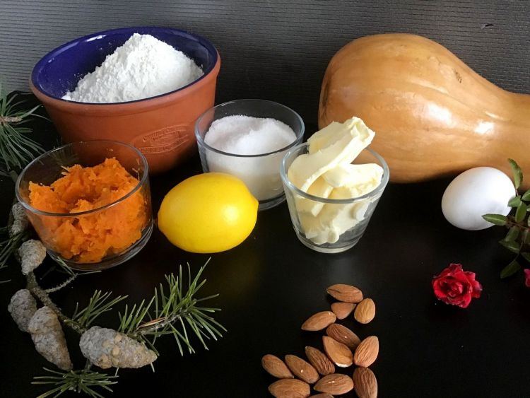 Інгредієнти для біскотті з гарбузом