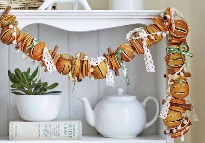 Гірлянди для декору оселі з цитрусових