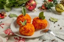 Сирна закуска на новорічний стіл «Мандаринки»