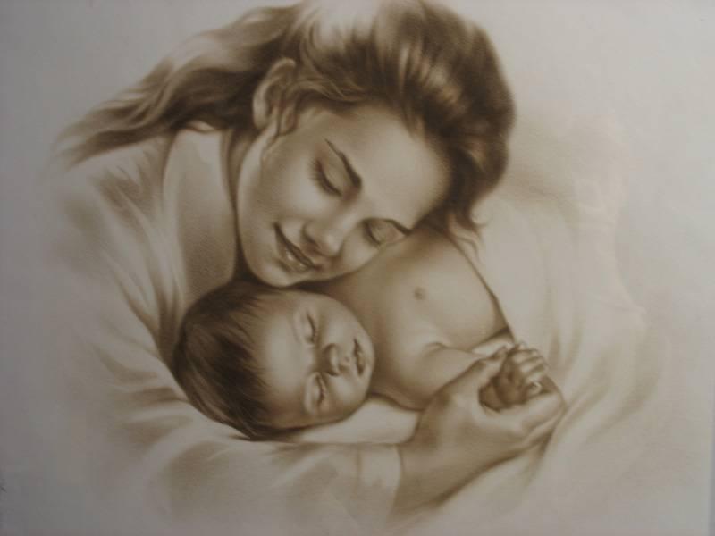 Резултат слика за мајка с дететом, слика