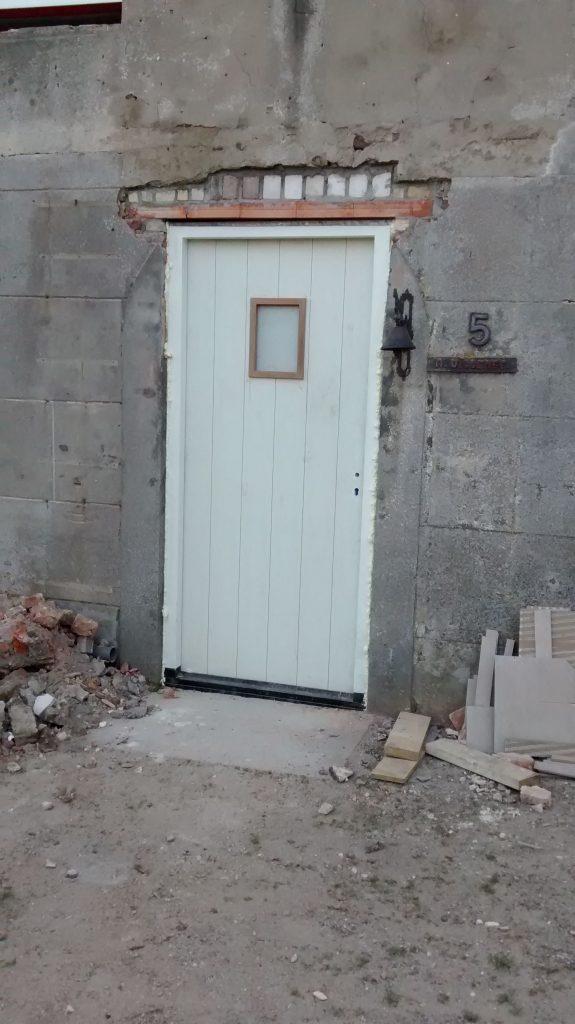 Nieuwe voordeur van aluplex
