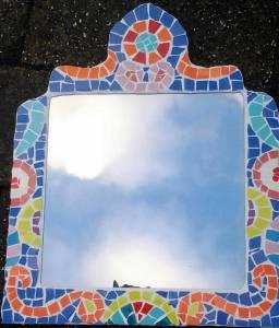 2017 zelfmaak mozaiekworkshop 5 uur spiegel