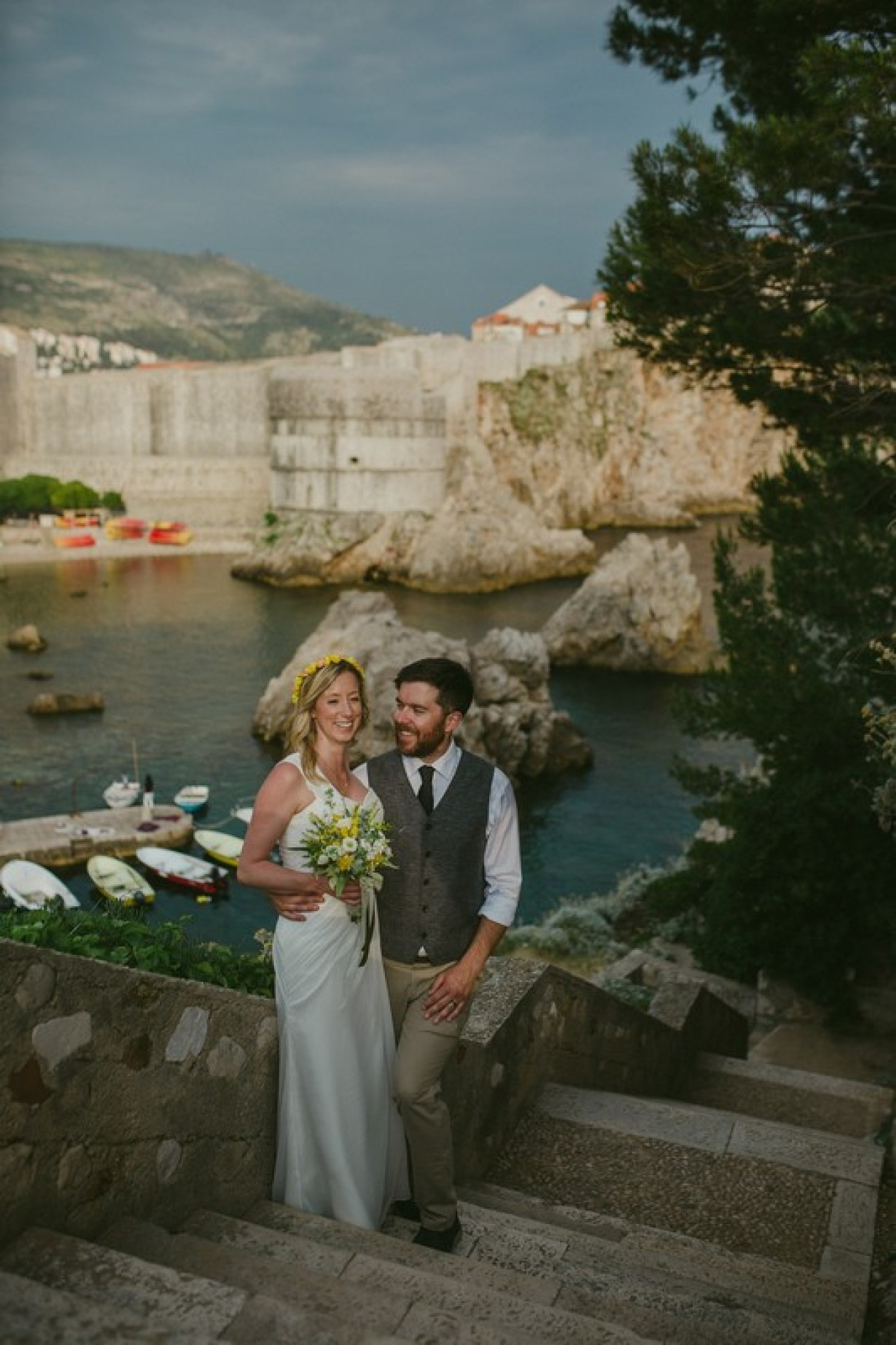 dubrovnik old town elopement wedding
