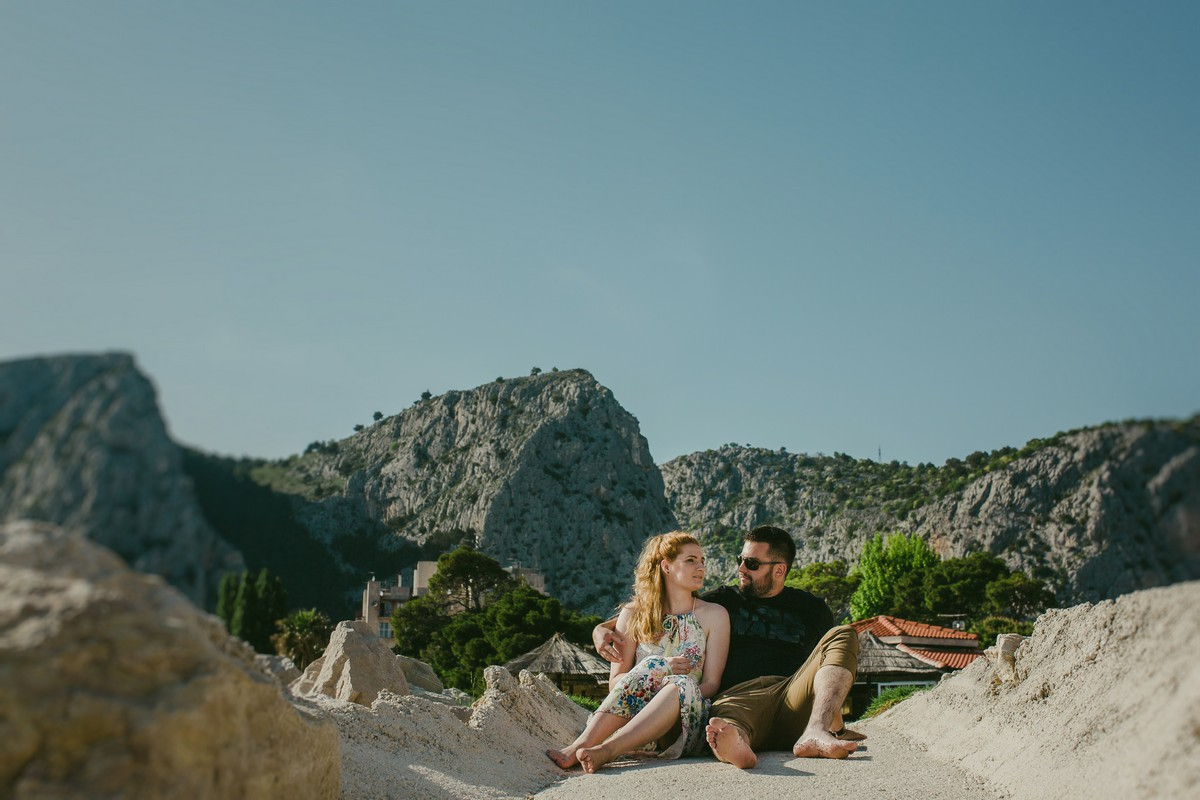 Omiš Croatia couple in the sun