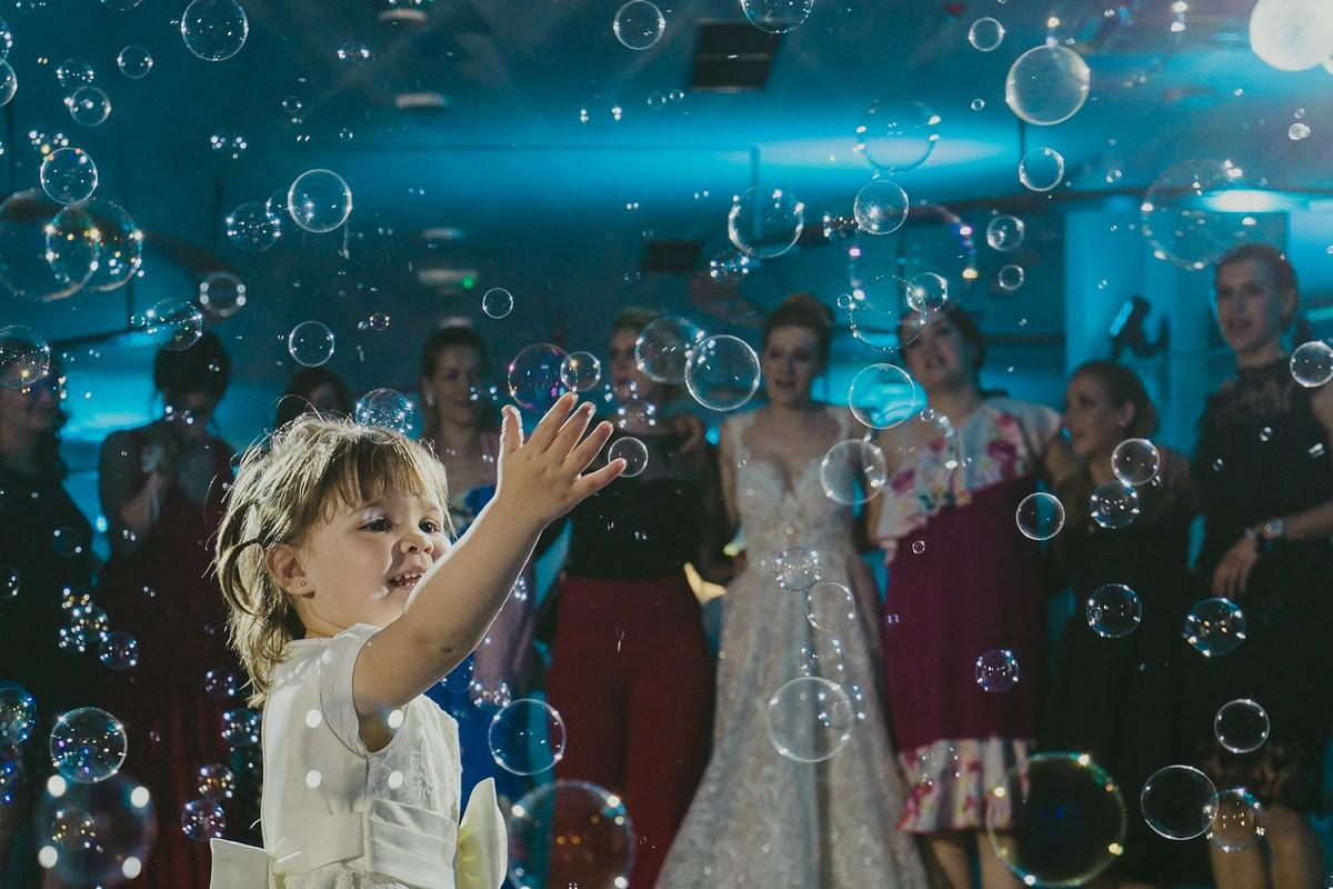 little girl soap baloons