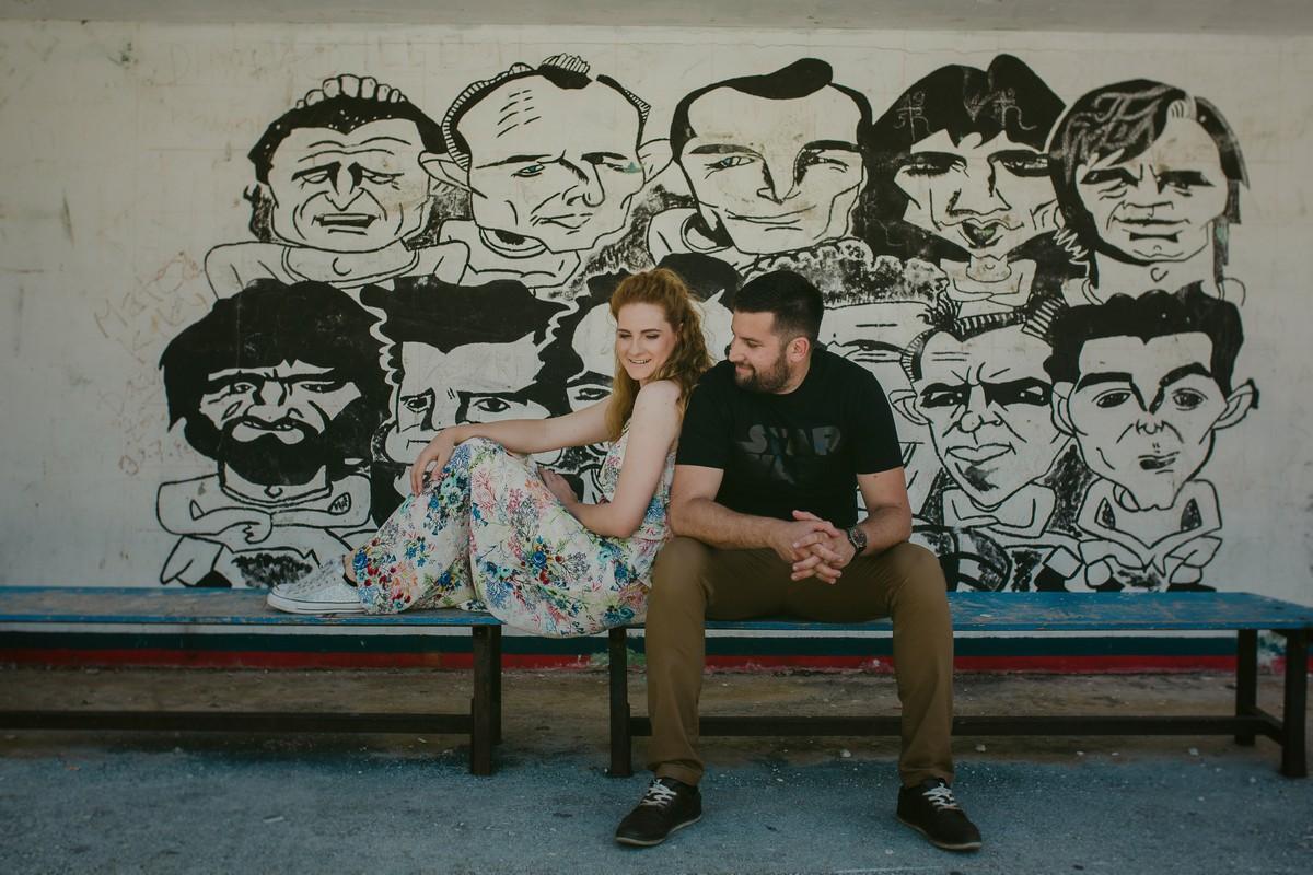 a couple in front hajduk split