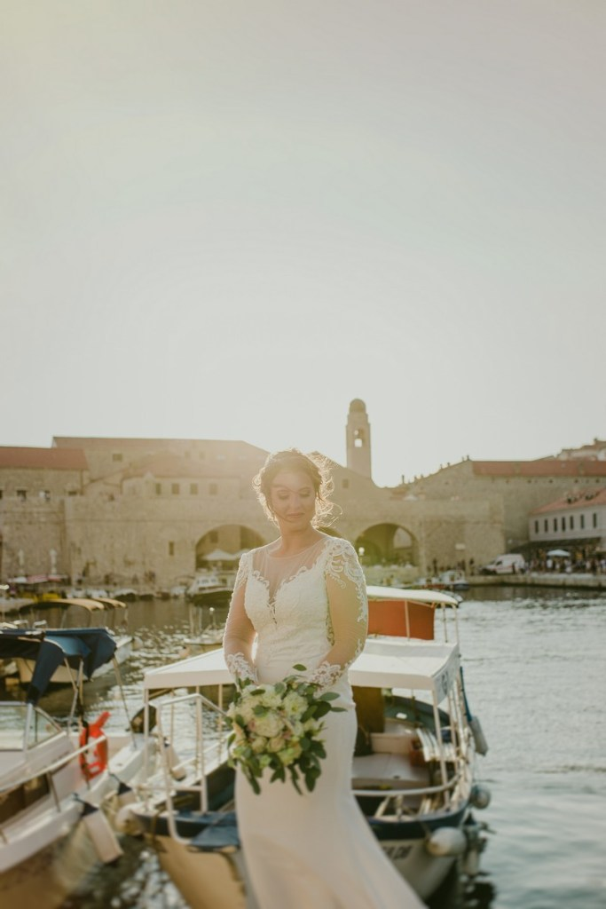 bride in old town