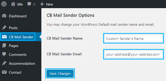 Change Sender Name in Outgoing WordPress Email