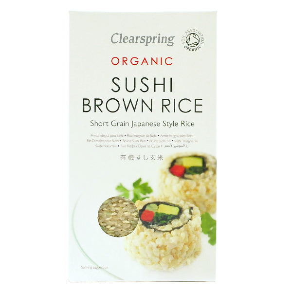 clearspring organic brown sushi rice