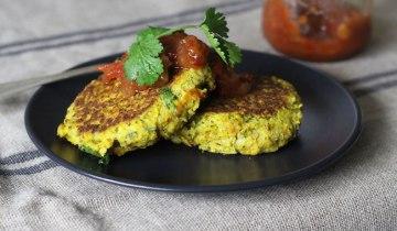Purée de légumes et beignets de quinoa