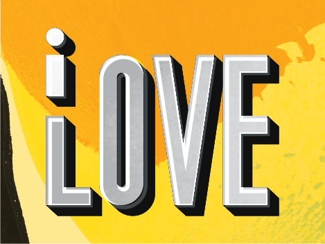 Like I love Mango typography piece, by Zé Monteiro