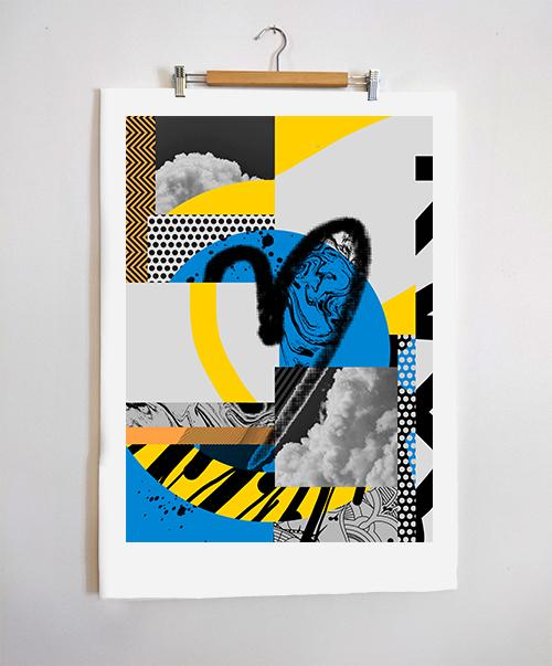Zé Monteiro_Heart poster hung