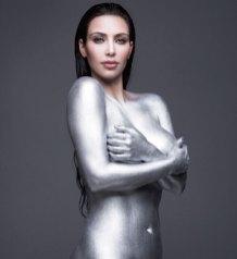 kim Kardashian naked silver paint pictures1
